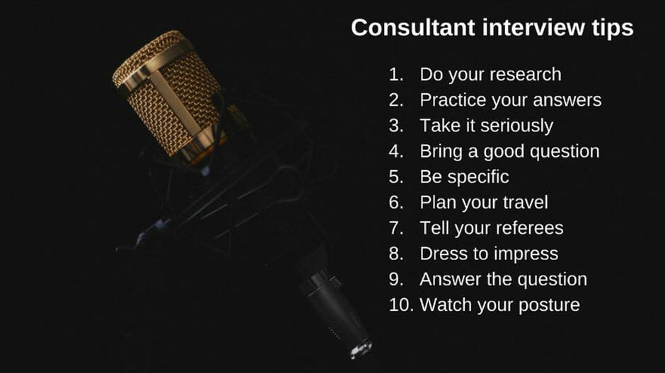 Top 10 interview tips from 6 consultants